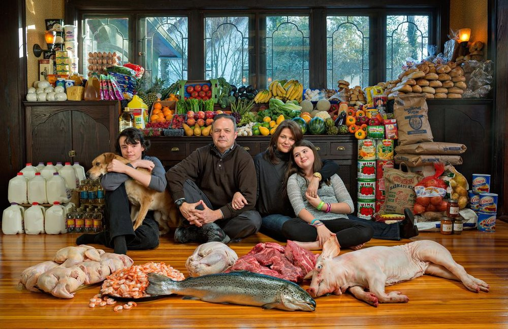National Geographic - representing the 1,160lbs of food the average American family wastes each year