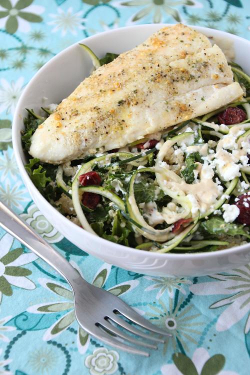 Lemon Quinoa & Kale Salad with Halibut {{Baking Bytes}}.png