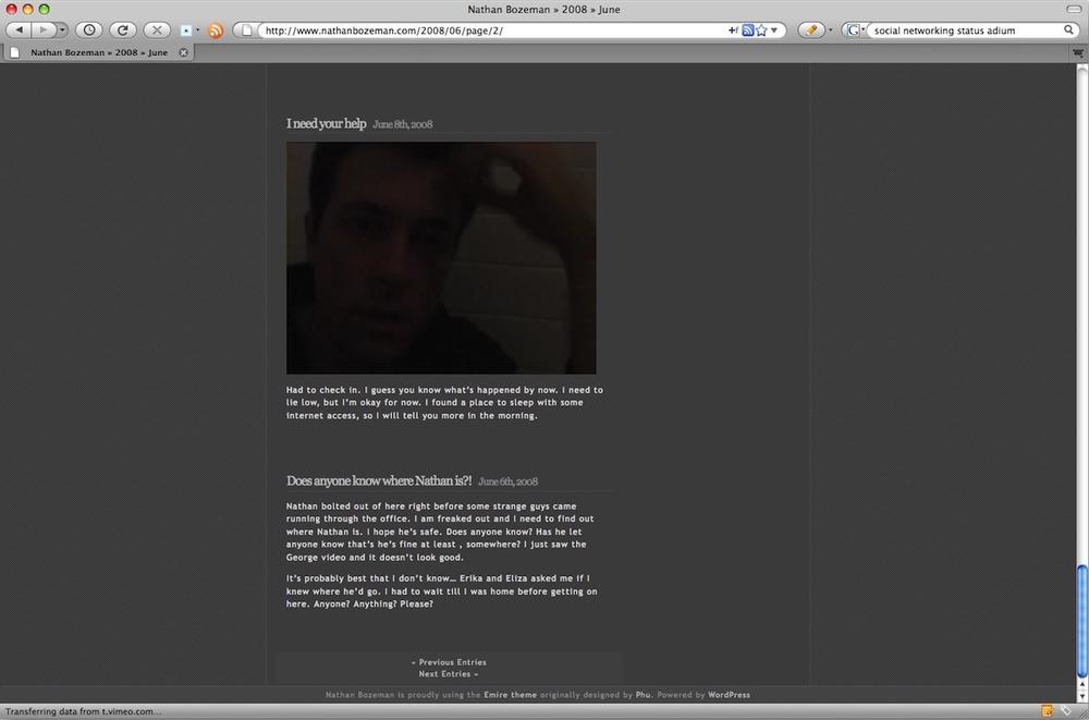 A secret blog