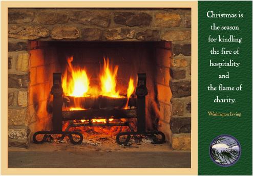 christmas fireplace - Christmas Fireplace Screen