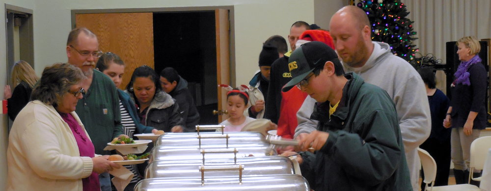 Christmas Party-Dinner line.jpg.jpg