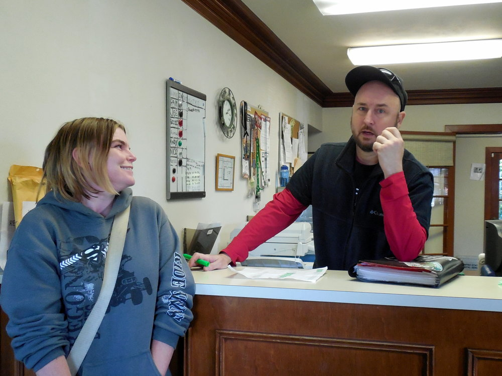 44 Office-Kristin and Jason-goofing off.jpg