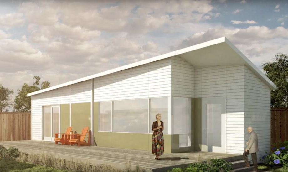A rendering of the backyard cottage project.   |  Image by the University of Calgary Faculty of Environmental Design via  Next City .