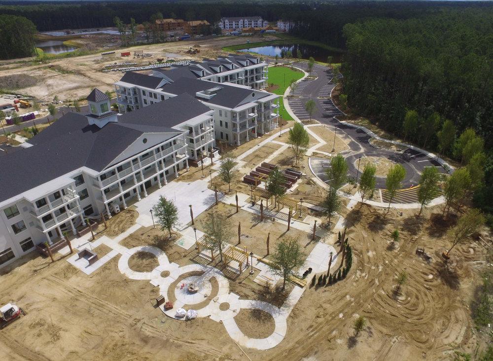 Aerial courtyard