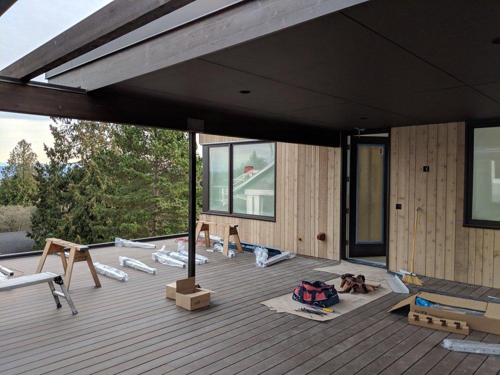 Open rooftop deck