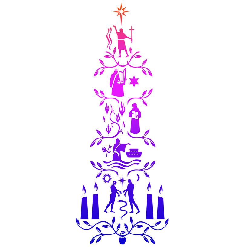 Jesse Tree Advent image for broader use / Nicholas Markell