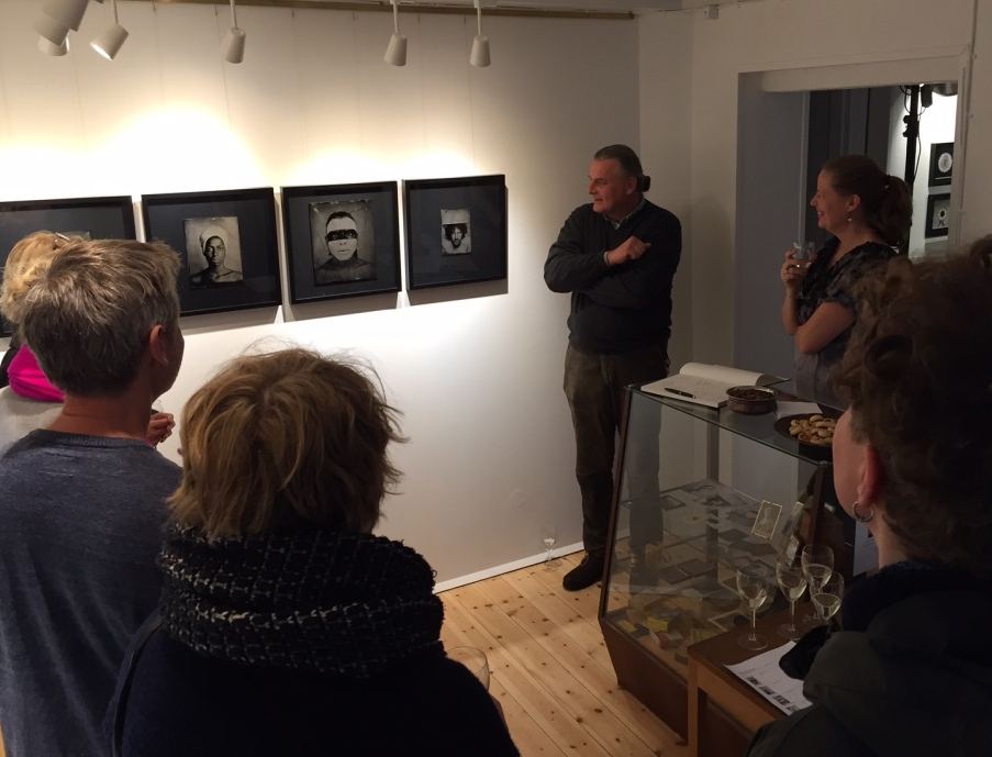 Daniel Samanns taking about his Wet Plate Collodion Ambrotypes at the Grand Opening.