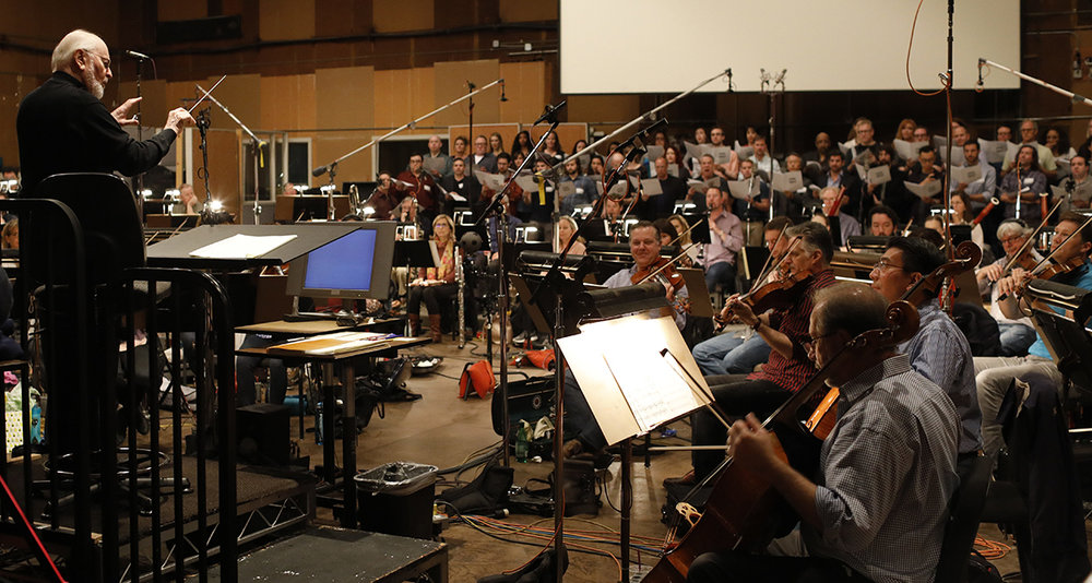 John Williams at the scoring session for The Last Jedi