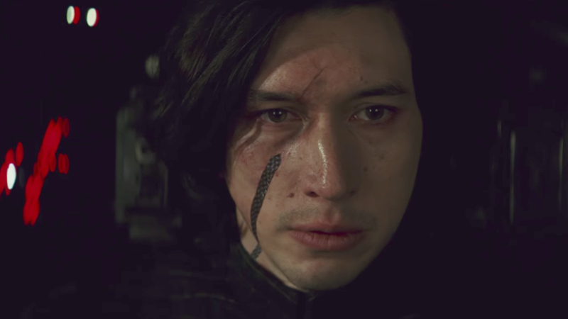 Adam Driver in a star-making, Oscar-worthy performance as Kylo Ren/Ben Solo