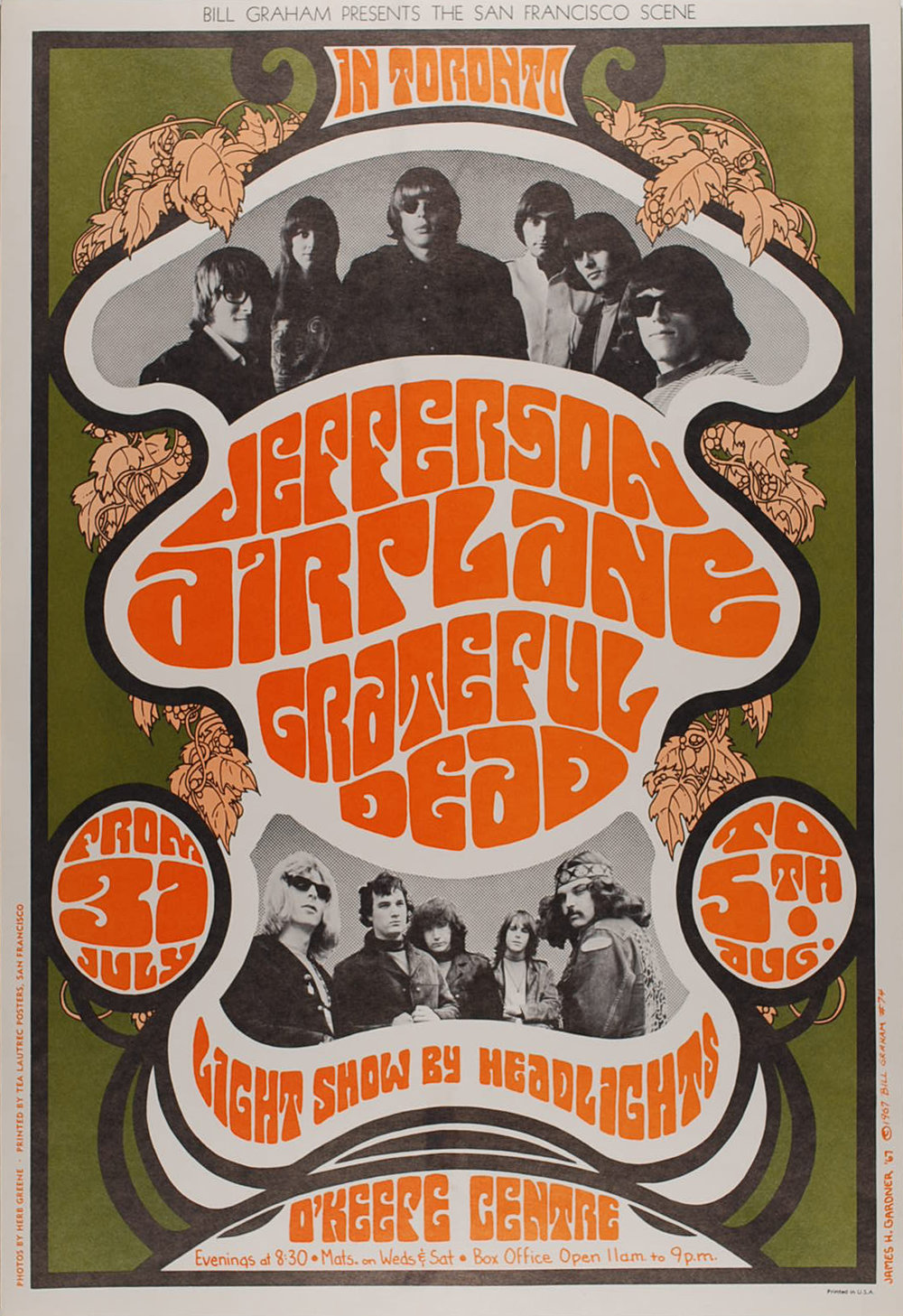 Jefferson Airplane O'Keefe Centre Toronto 7/31 – 8/5/67