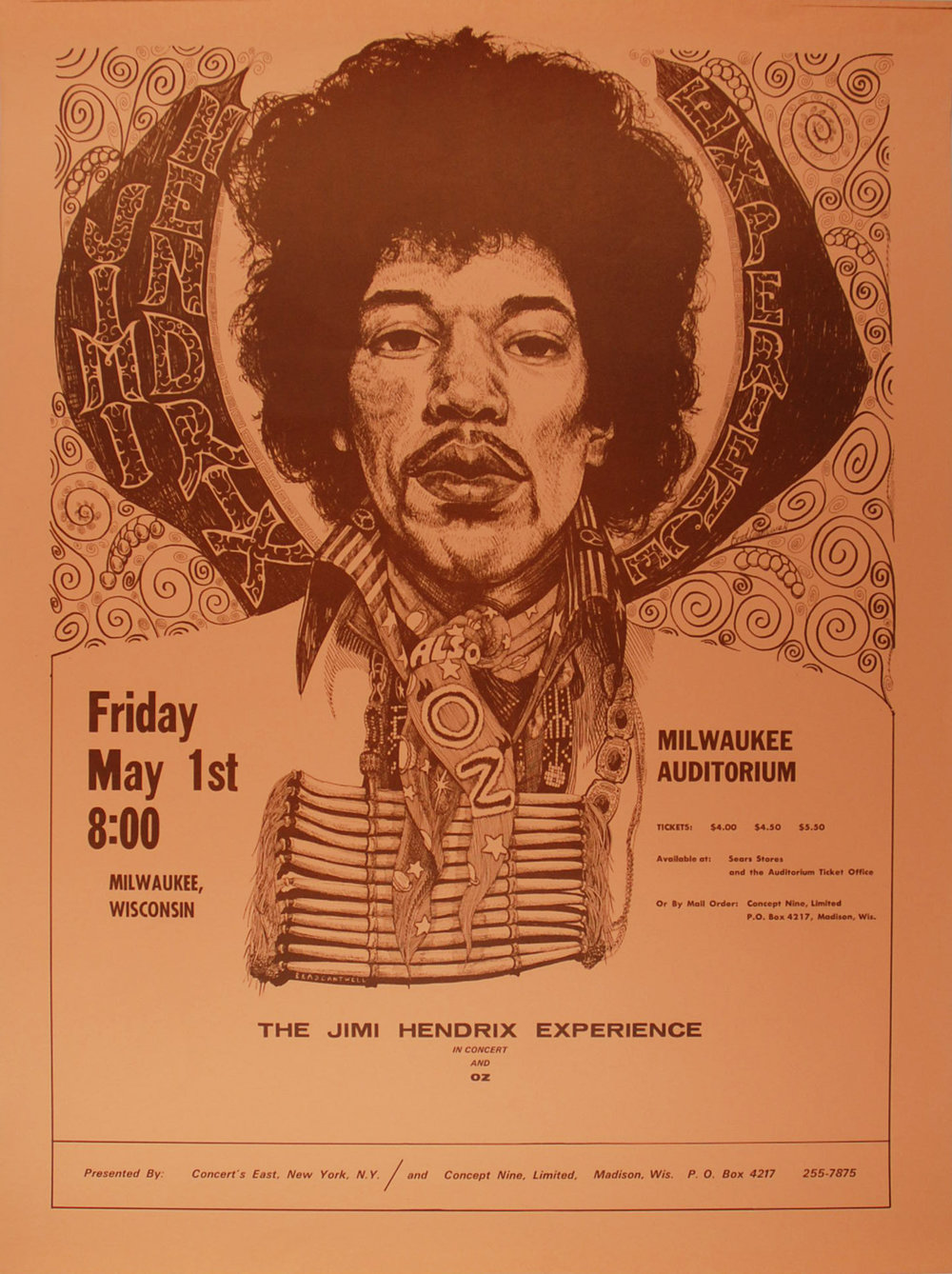 Jimi Hendrix Milwaukee Auditorium