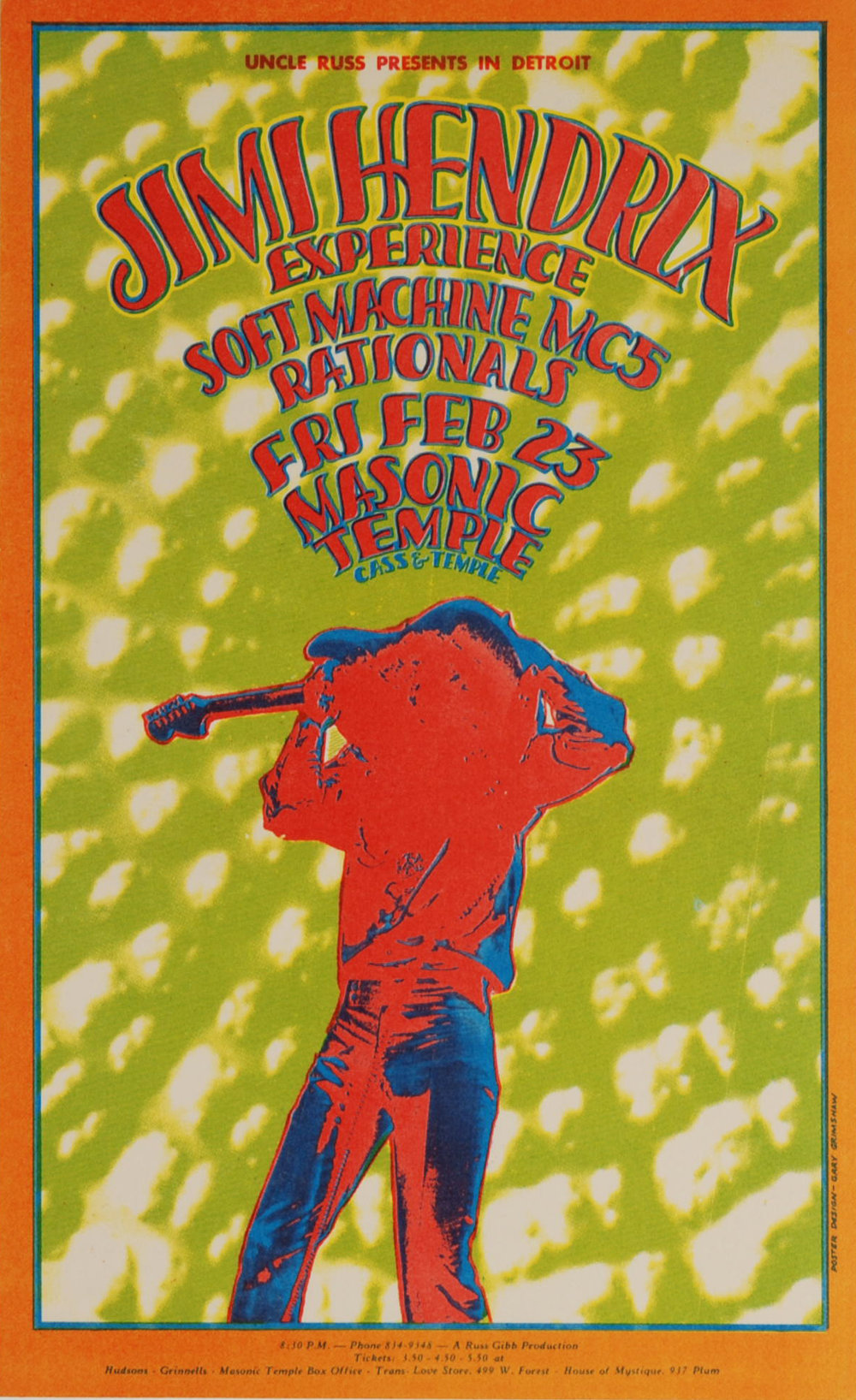 Jimi Hendrix Experience Soft Machine MC5