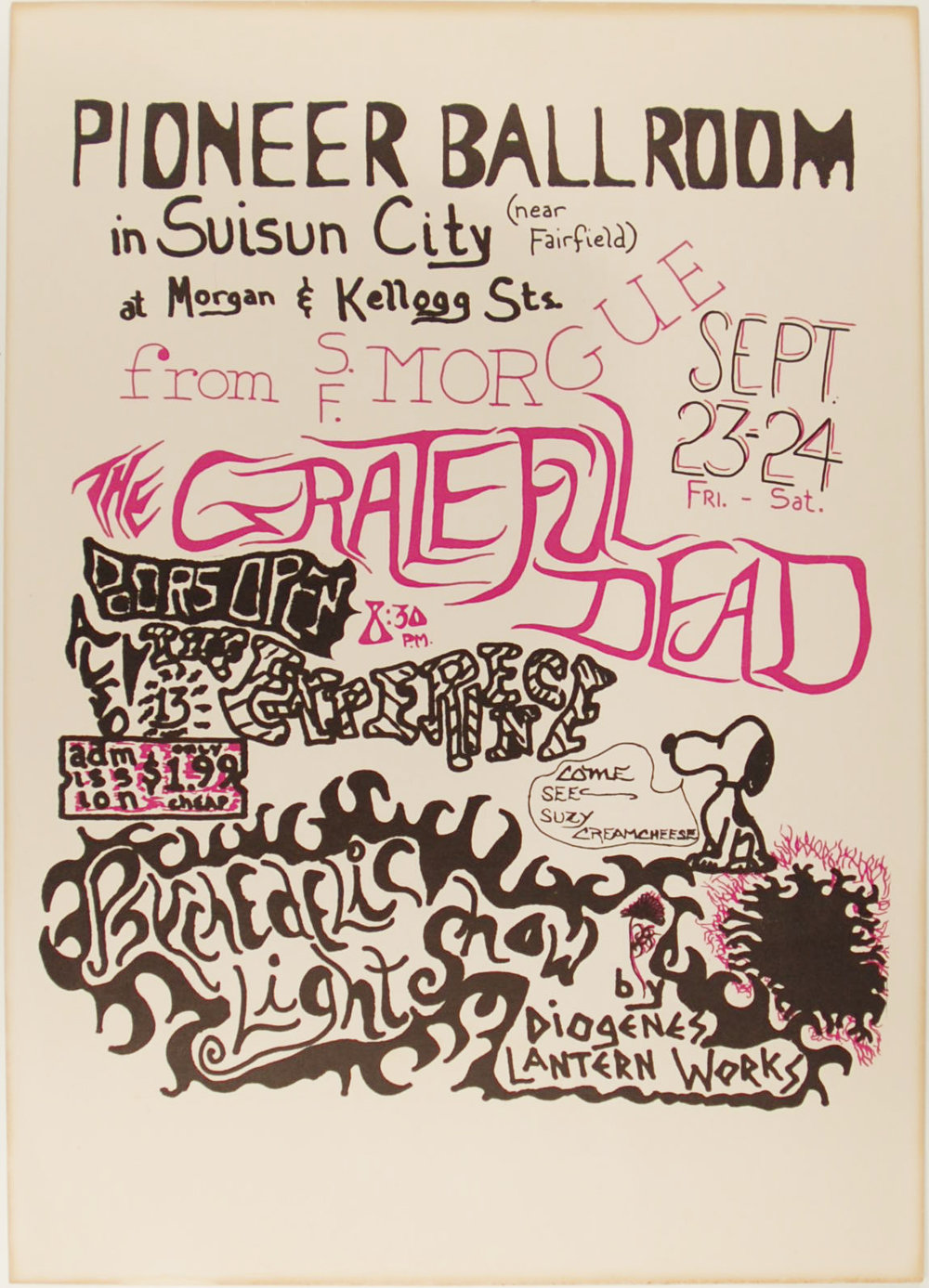 Grateful Dead, Pioneer Ballroom