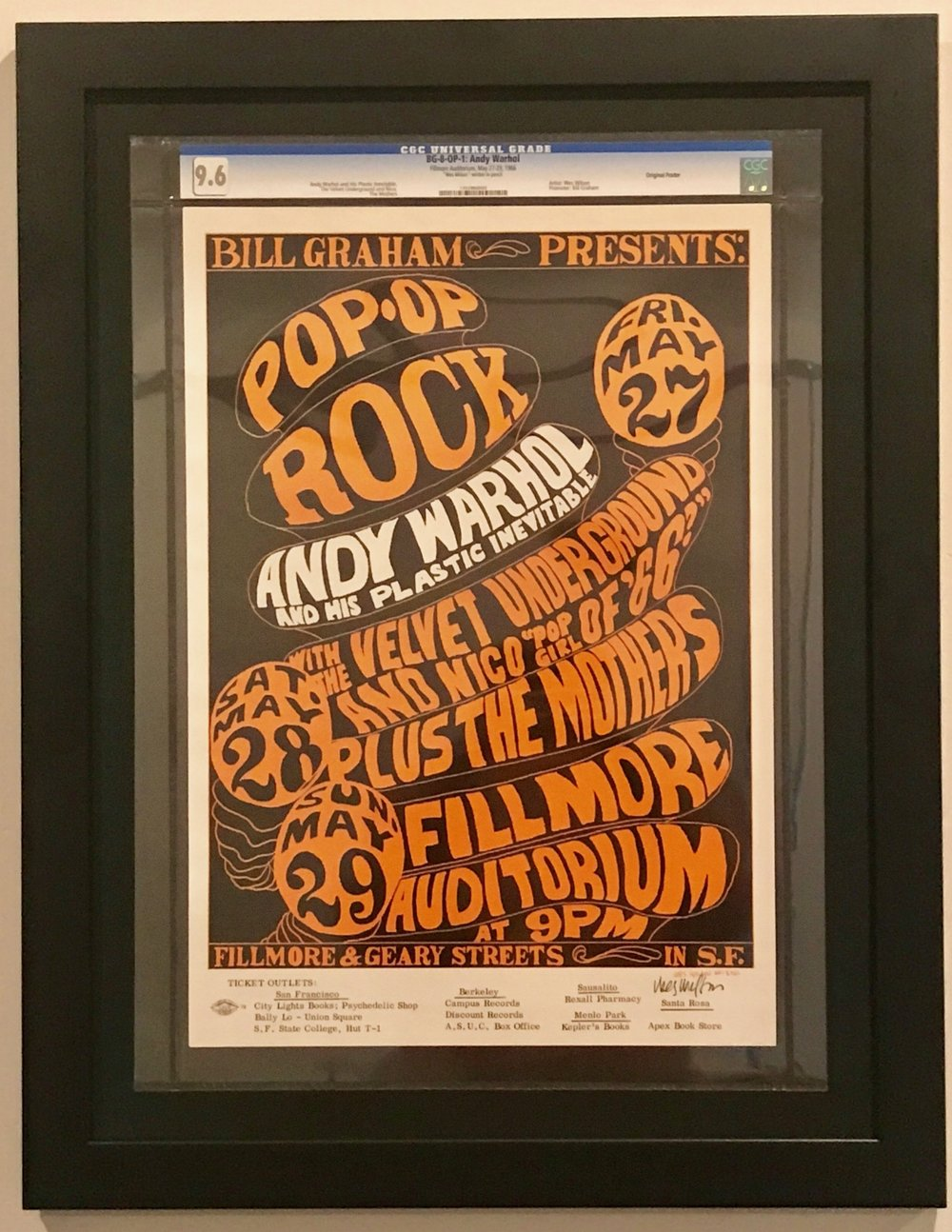 CGC Graded Concert Posters- To Frame or Not Frame? — Psychedelic Art ...