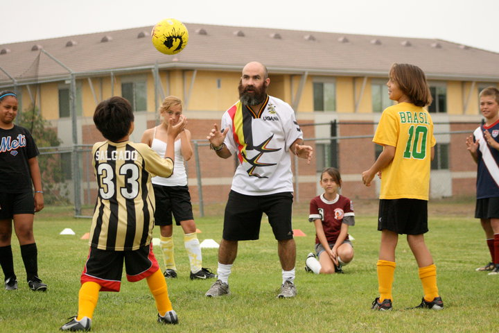 TODD COACHING @ SEAHORSE SOCCER CAMPS