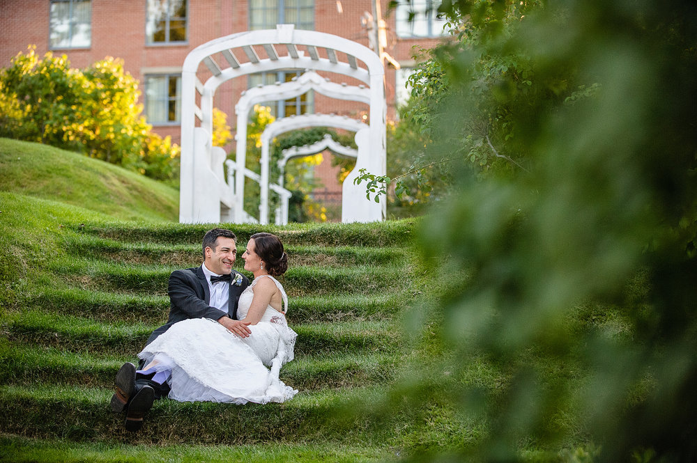 A flower-filled garden wedding in the heart of the city celebrates spring.
