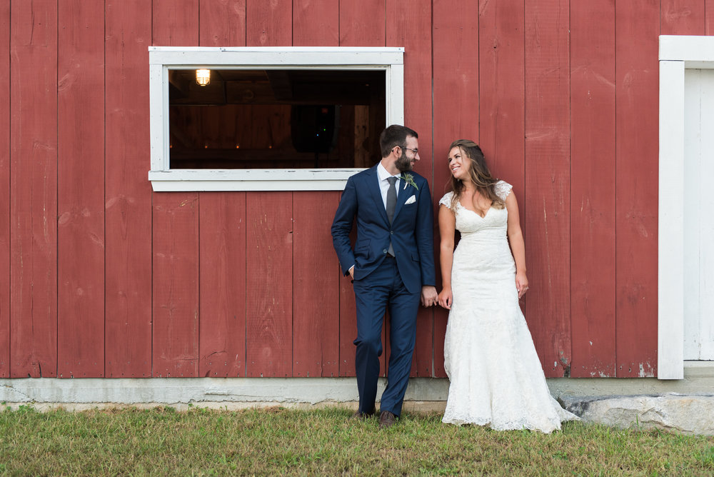 Soft elegance and a rustic setting made this farm wedding both relaxed and refined.