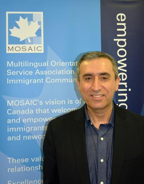 Saleem Spindari, Manager of Refugee Settlement Support Projects at MOSAIC. Credit: MOSAIC