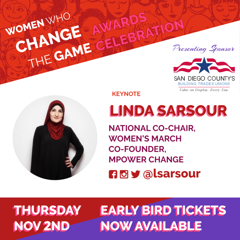 Early Bird Sale! Nov 2 Awards Celebration Linda Sarsour Keynote