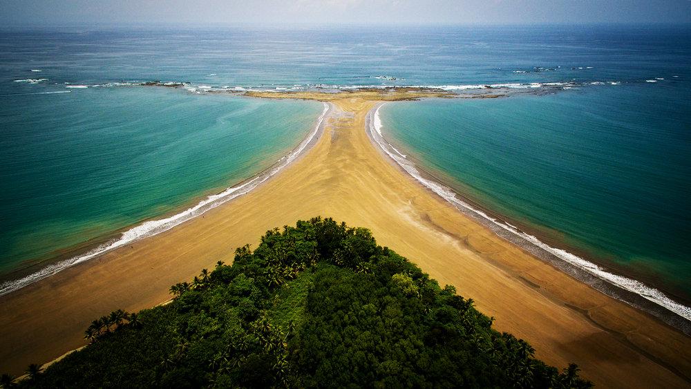 """Playa Uvita Beach """"Whale's Tail"""""""