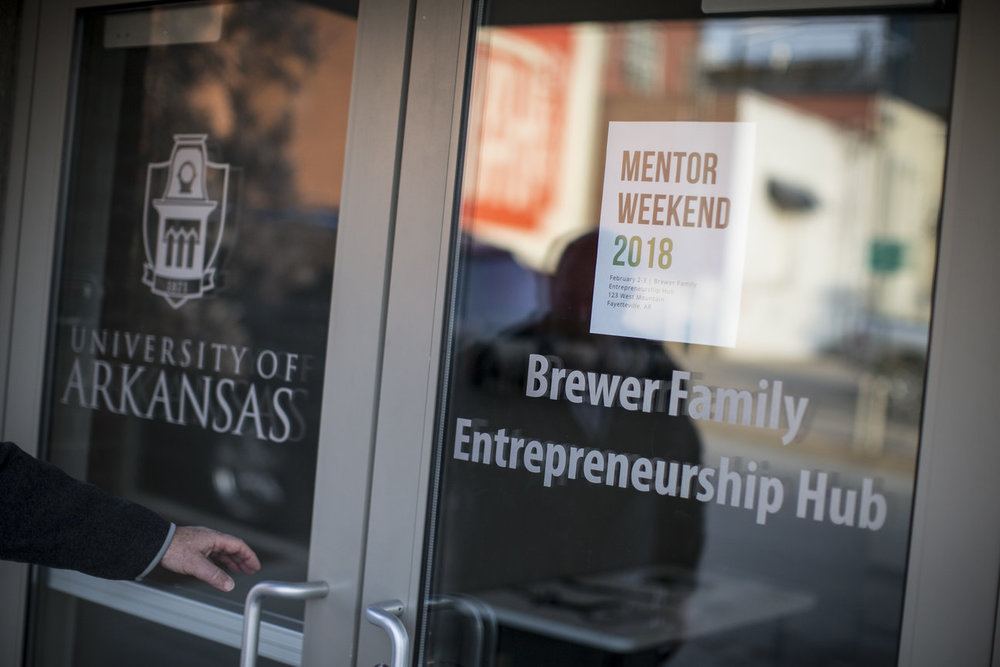 The Brewer Family Entrepreneurship Hub opened in September just one block west of the Fayetteville Square.