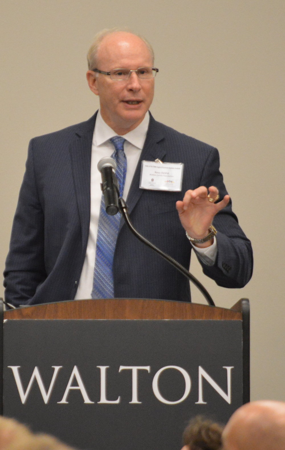 Ross DeVol, a fellow at the Walton Family Foundation, talked Tuesday at the State of the Northwest Arkansas Region luncheon about how important universities are to the overall health of a region's economy.