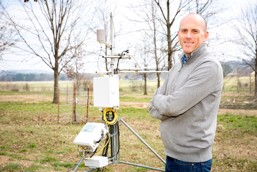 Ben Runkle, an assistant professor of biological and agricultural engineering at the University of Arkansas, is studying how to reduce the environmental impact of growing rice, one of the world's most produced foods. He received a National Science Foundation CAREER award.