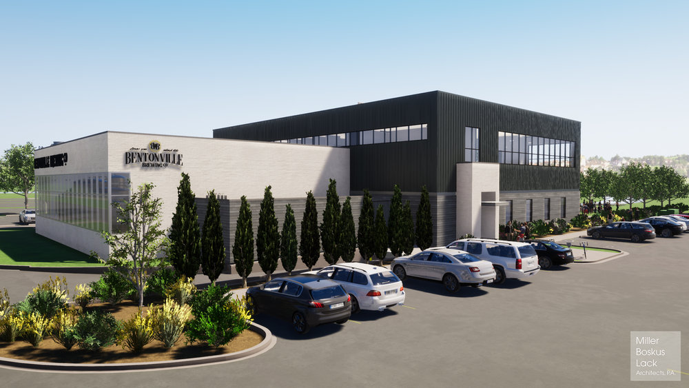Fayetteville architectural firm Miller Boskus Lack designed the Bentonville Brewing Co. location that's now under construction near Southwest I Street and Southwest 14th Street.