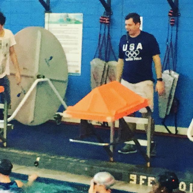 Ulmis Iordace of Greenwich Aquatics comes to LIU Brooklyn for a practice w/Brooklyn Water Polo #waterpolo #brooklynwaterpolo #liubrooklyn