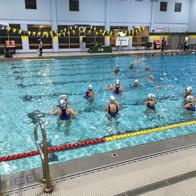 @sienawaterpolo for @MAAC women's water polo @sfbkterriers vs. @vmisports  #swimmingworld #waterpolo