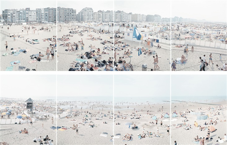 """Knokke-polyptych"" From the Landscapes with Figures Portfolio, 2002.  Eight offset lithographs / 33.5 x 25.75 in (85.09 x 65.41 cm)"