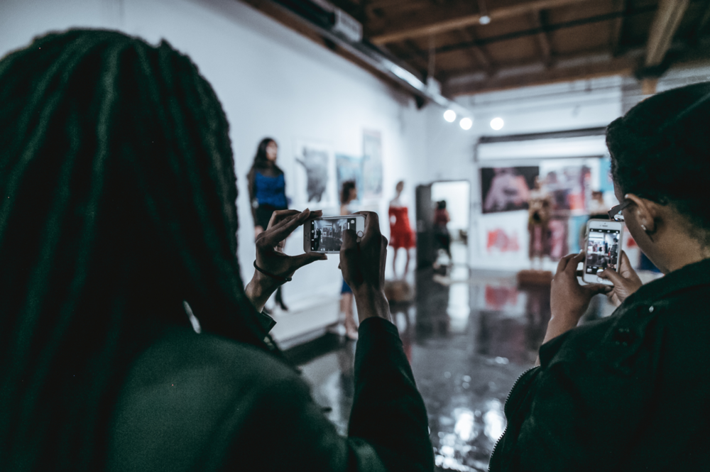 Our shotgun style studio is perfect for fashion shows and are galleries