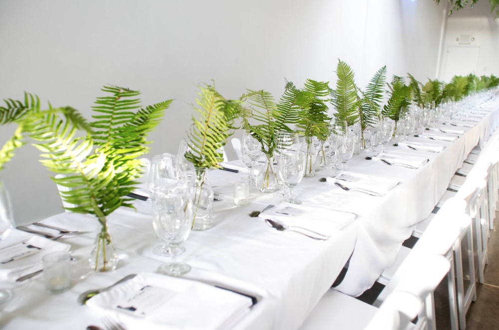 The king's table dinner set up is perfect for private dinners and quaint wedding receptions.