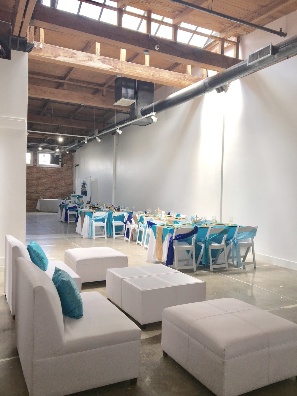 Our open floor plan is the perfect space for your gender reveal party or baby shower.