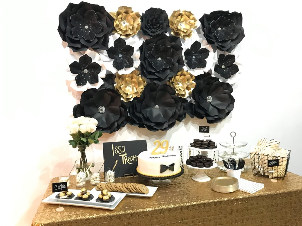 A birthday party isn't complete without an amazing dessert table!
