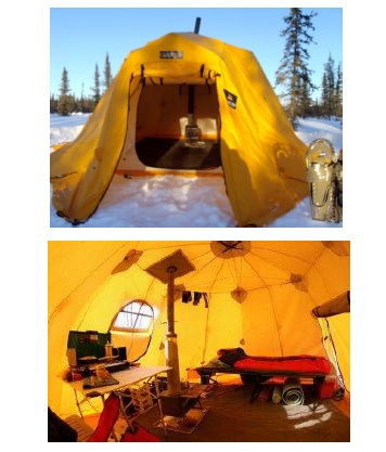 Arctic Oven tents keep you warm on overnight adventures