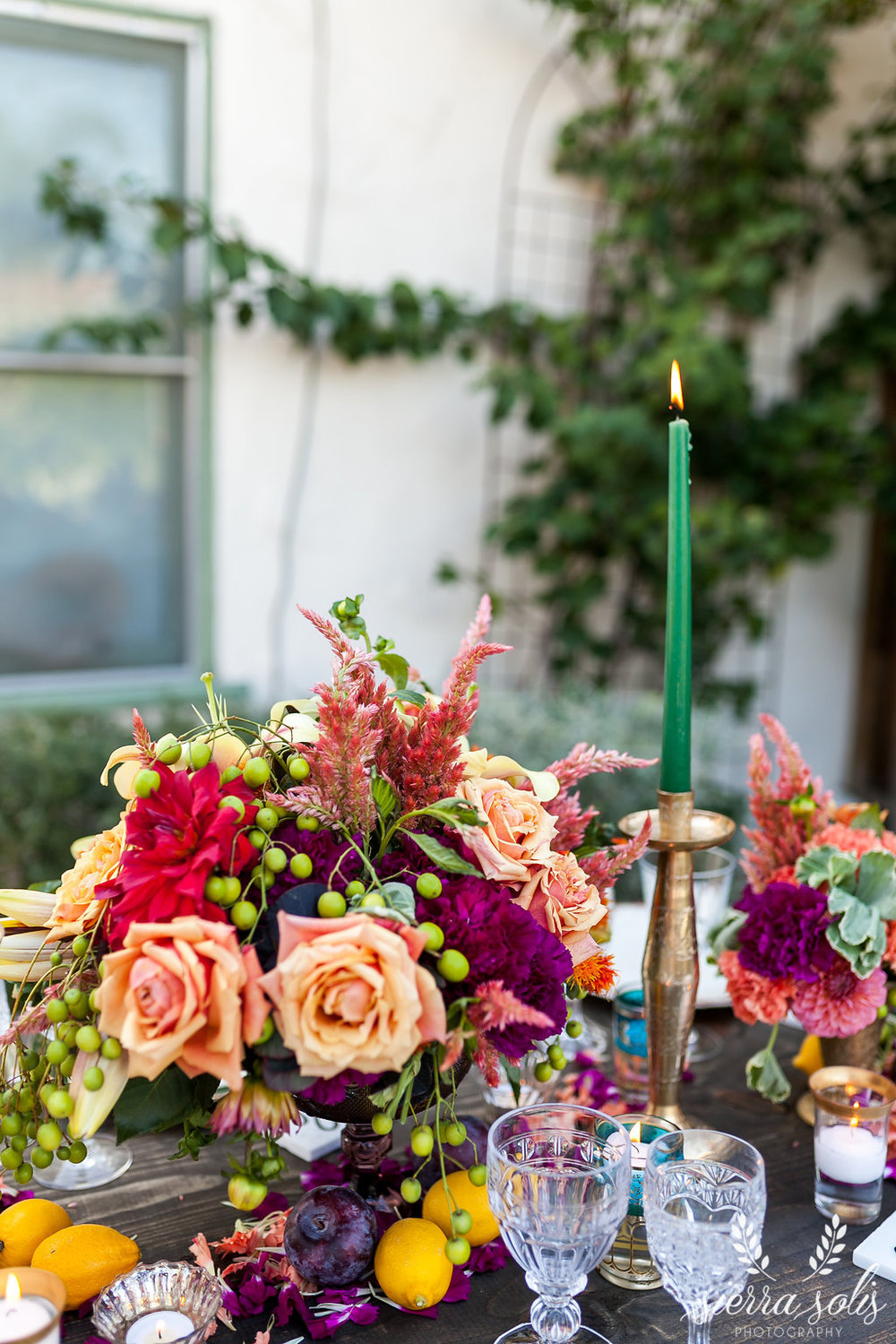 Colorful Backyard Anniversary Party
