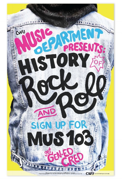 Rock and Roll class poster design