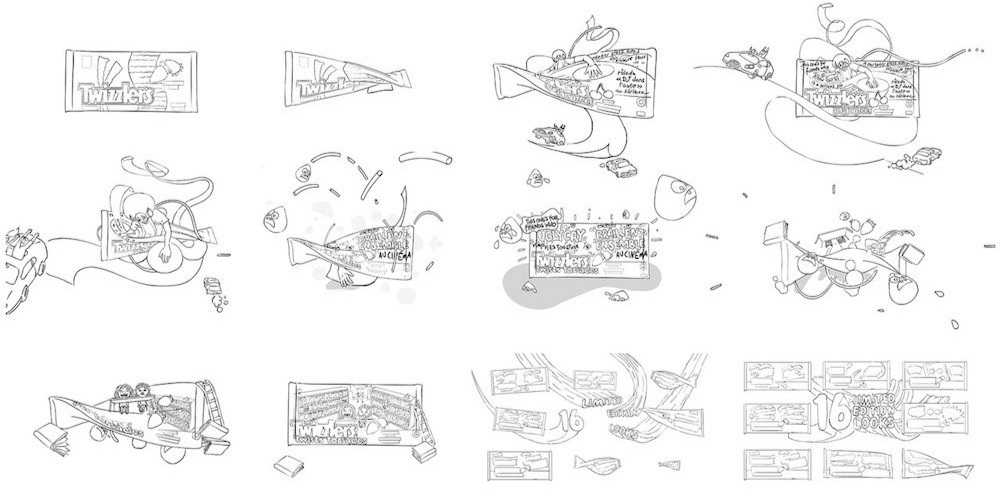 Illustrated storyboard for animation, by  Nice Shoes .   Click here to watch the Ugly Cry commercial