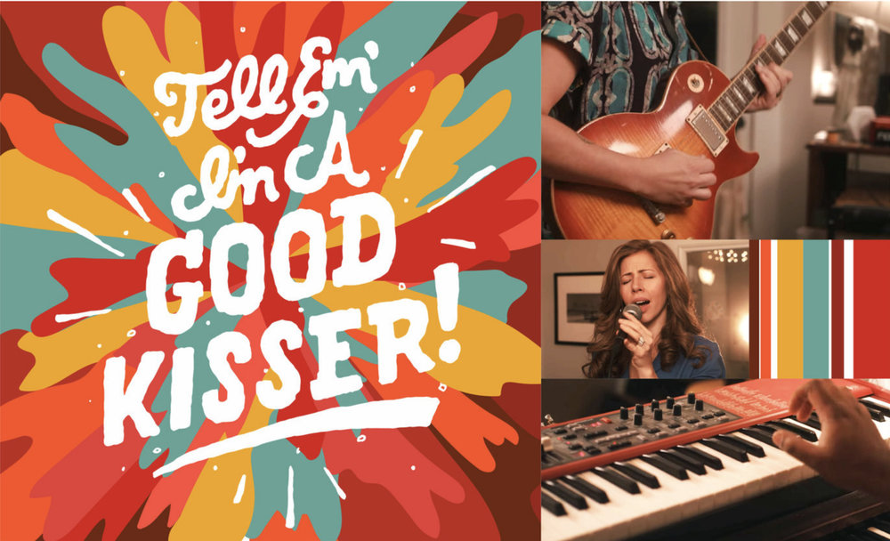 Lyrics from Lake Street Dive's new single 'Good Kisser'. The song's build up is explosive and gives ya' chills. Images are screen grabs from a live-performance video.