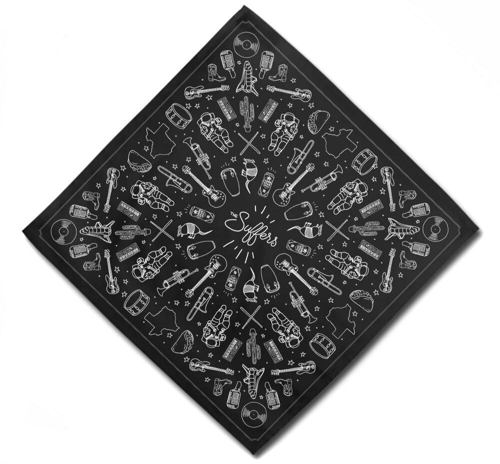 Custom illustrations for promotional bandana.