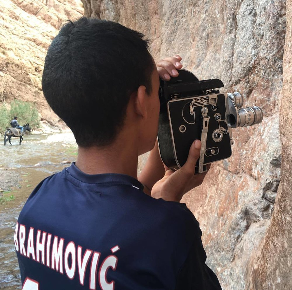 © Lina Laraki - Atlas of Elements - Youssef trying on the bolex / 2017