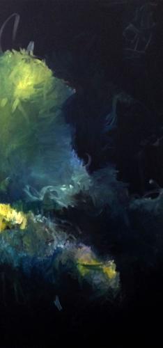 """We're Still Cool (Minuscule)  Oil on Panel  30"""" x 60""""  2015"""