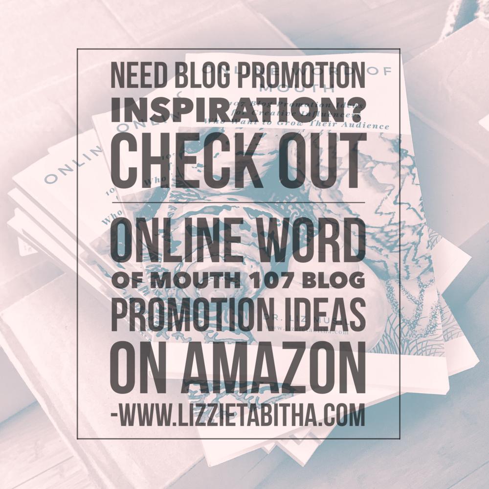 blog promo book