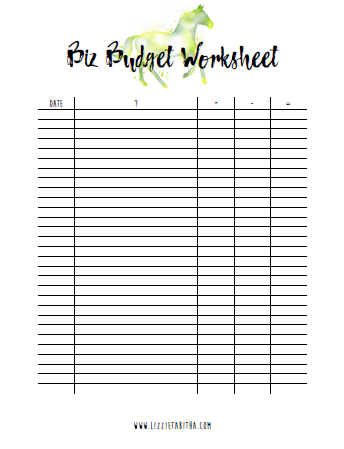 biz budget worksheet by dr. liz musil