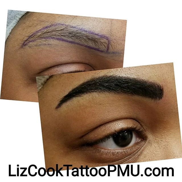 Alani's Brows Before & After with Stencil