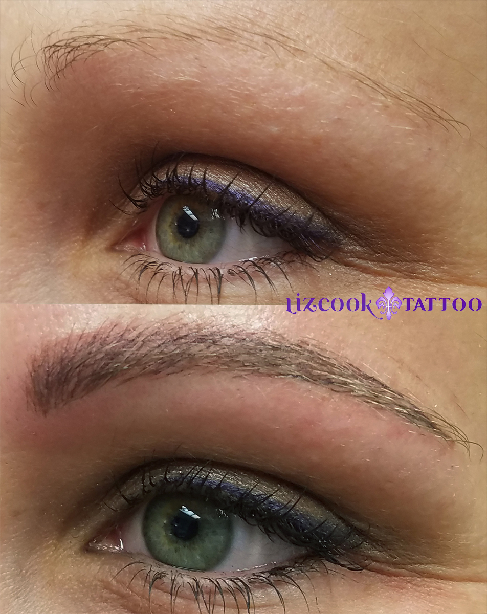 Liz Cook Tattoo Permanent Makeup Brows Microblading Left Side Before After with eyes Taylor EAP Labyrinth.jpg