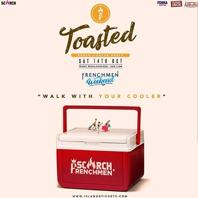 Igloos packed yet? ⠀ Cop your tickets from your favourite ambassador, Chilitos @chilitosjamexican or online at islandetickets.com⠀ ⠀ #TOASTED⠀ #GetToasted⠀ #ScorchJamaica #ScorchxFrenchmen⠀ #FrenchmenWeekend⠀ #HeroesWeekend⠀ @scorchjamaica @scorchmag⠀ @frenchmenparty