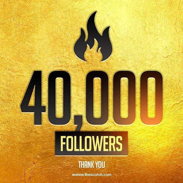 To our loyal followers,  thank you for growing with us and becoming part of the SCORCH family.  XO