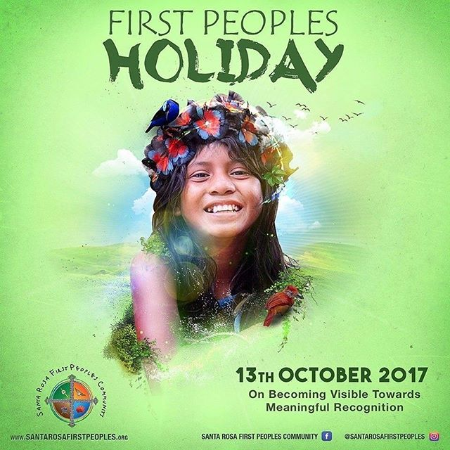 HAPPY FIRST PEOPLE'S HOLIDAY.  We suggest that everyone take a moment to learn about these beautiful people's history.  #meaningfulrecognition